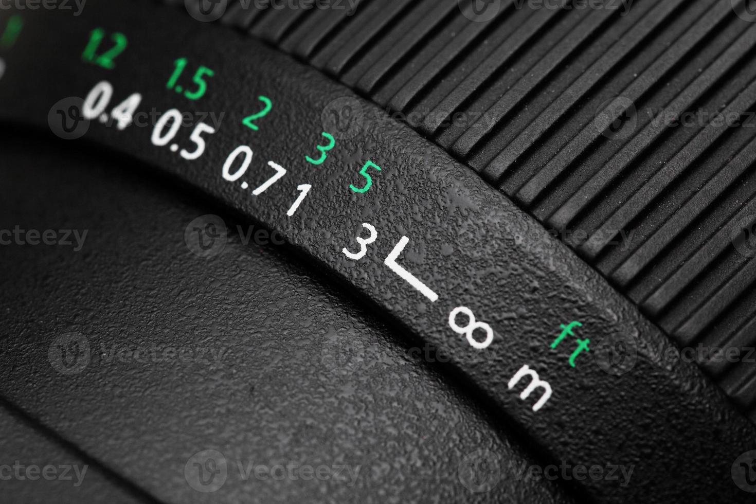 lente de la cámara de cerca foto