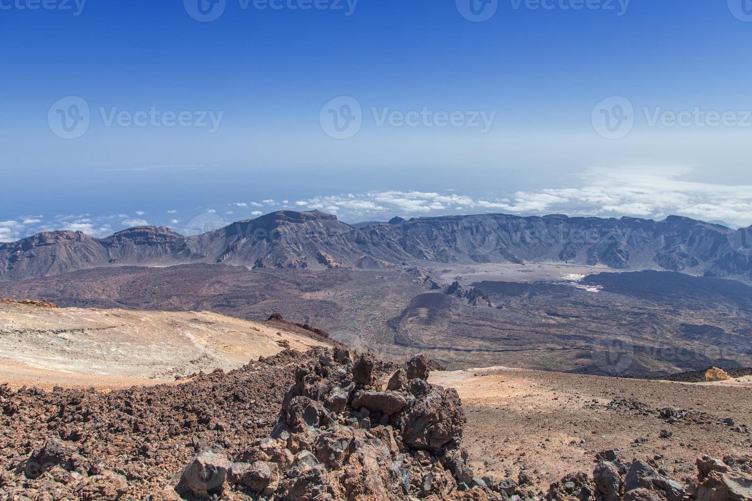 The view from El Teide peak photo