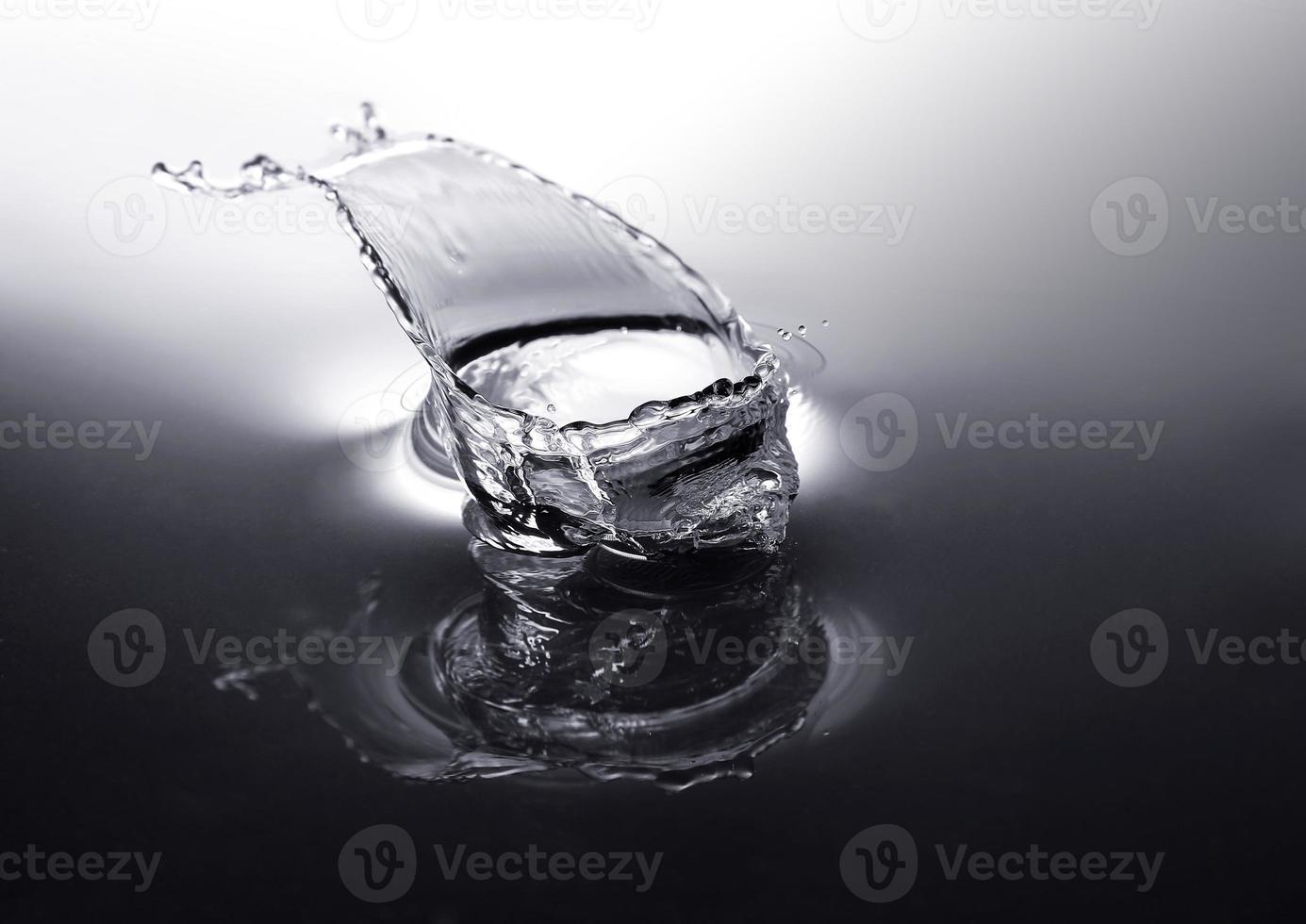 Water drops close-up photo