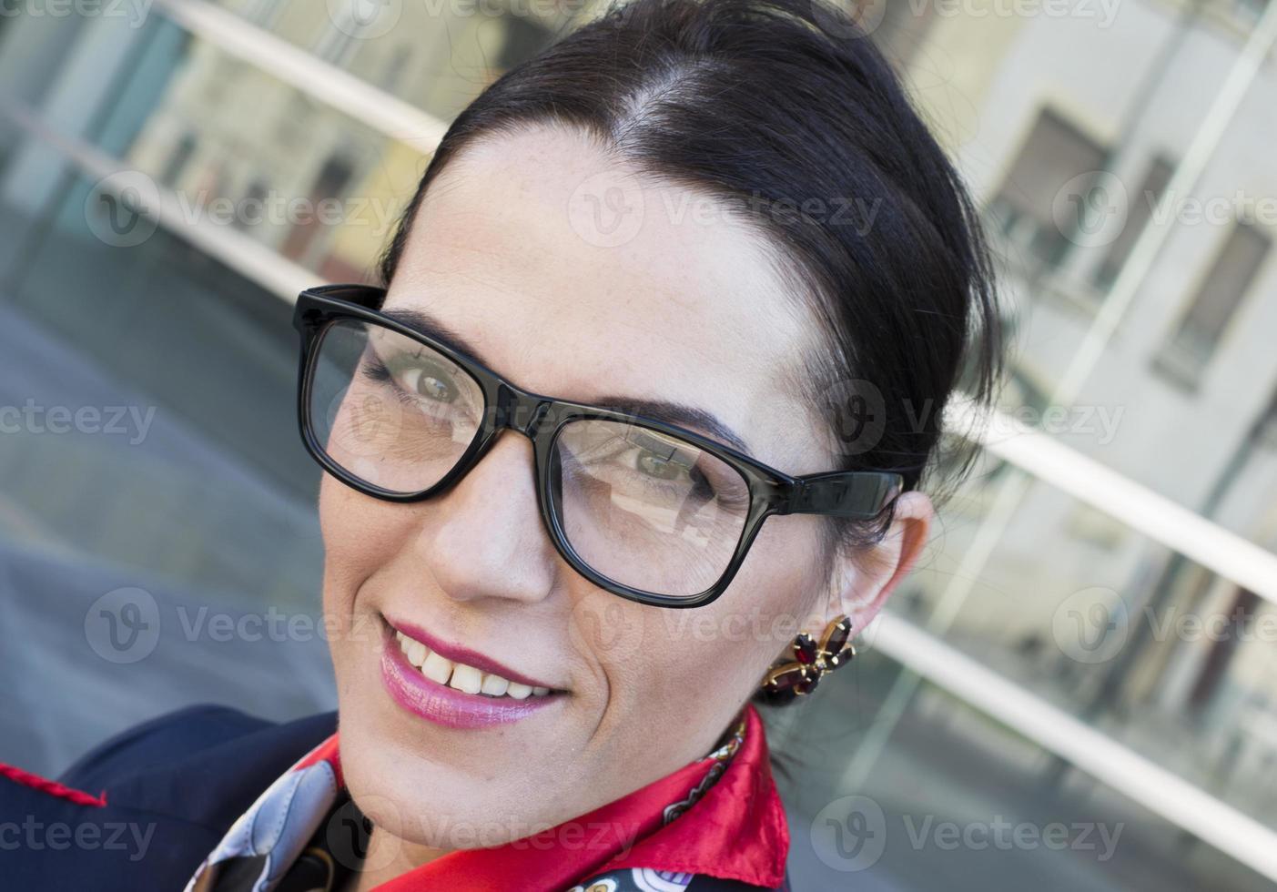 Business woman close-up photo