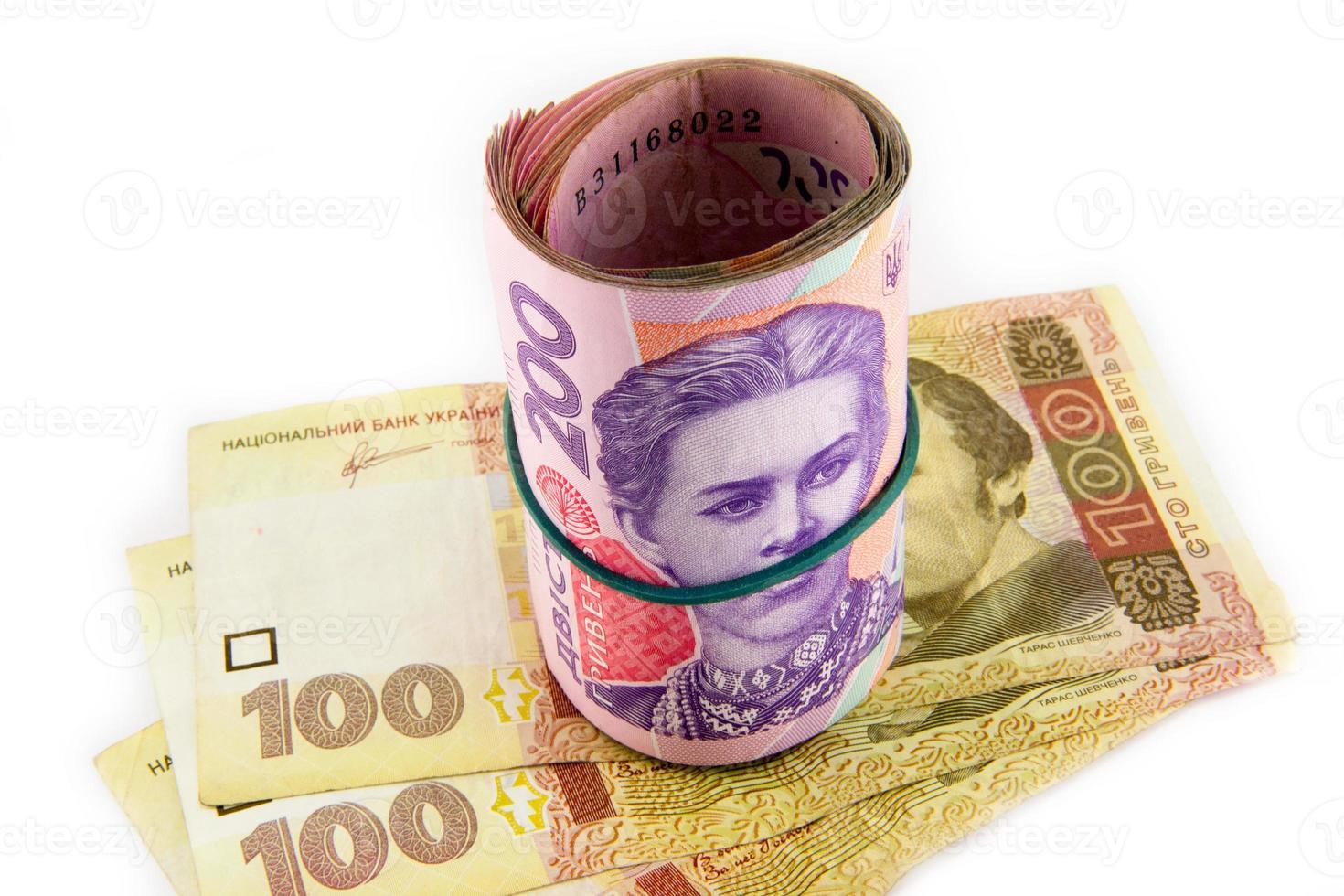 hryvnia ucraniano de cerca foto