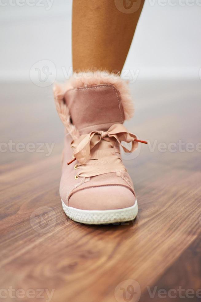 Sports shoe close up photo