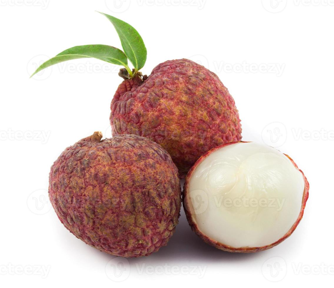 close up red lychee photo