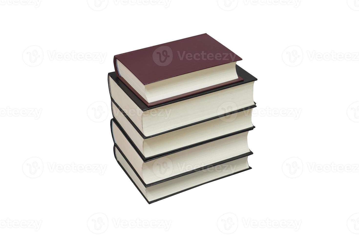 vieux livres isolés sur blanc photo