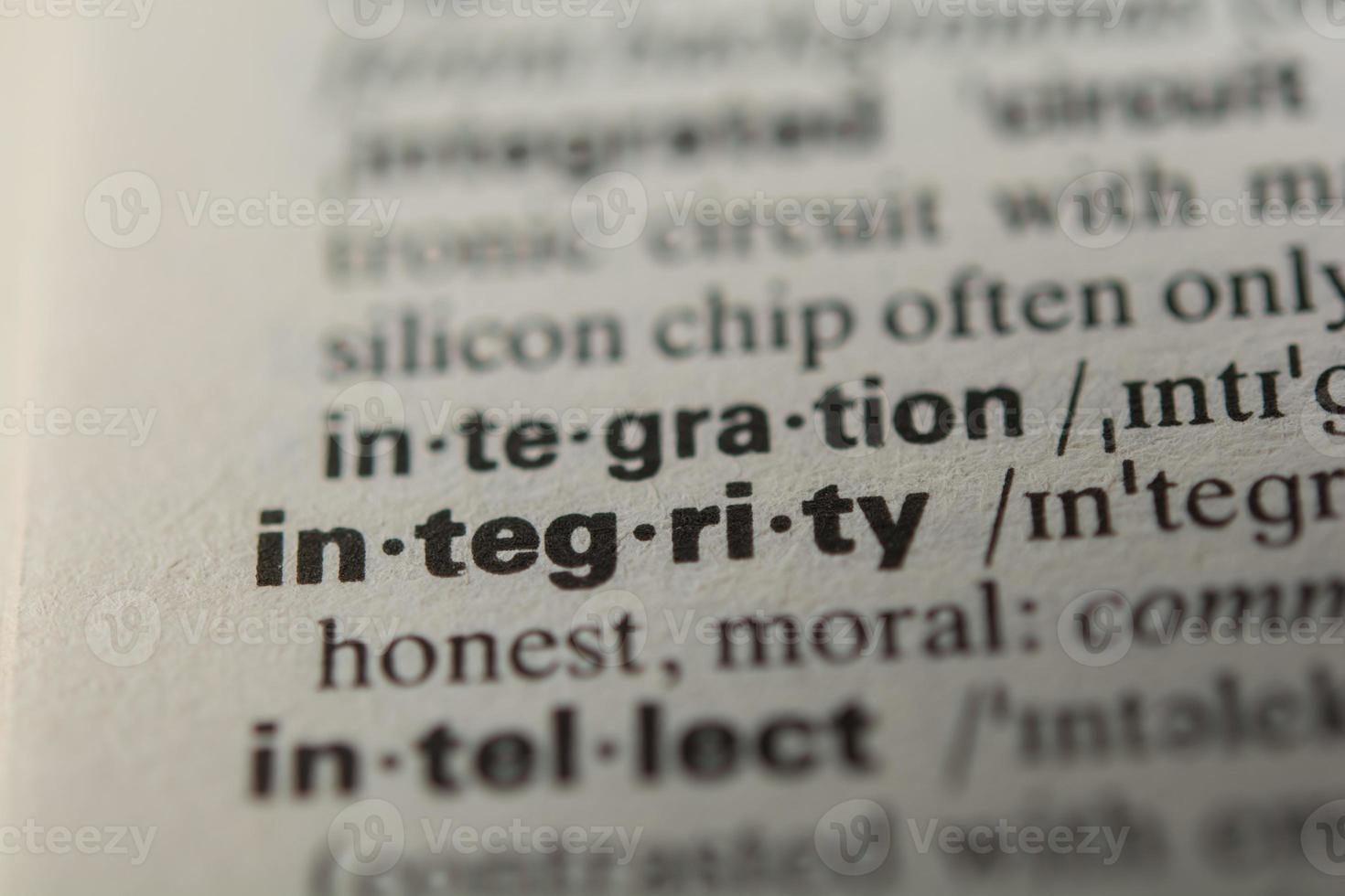 Definition of the word integrity photo