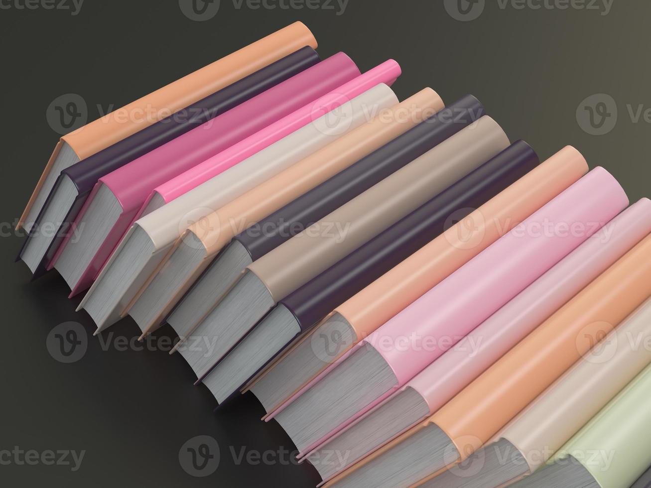lege kleurenboek mockup sjabloon op zwarte achtergrond foto