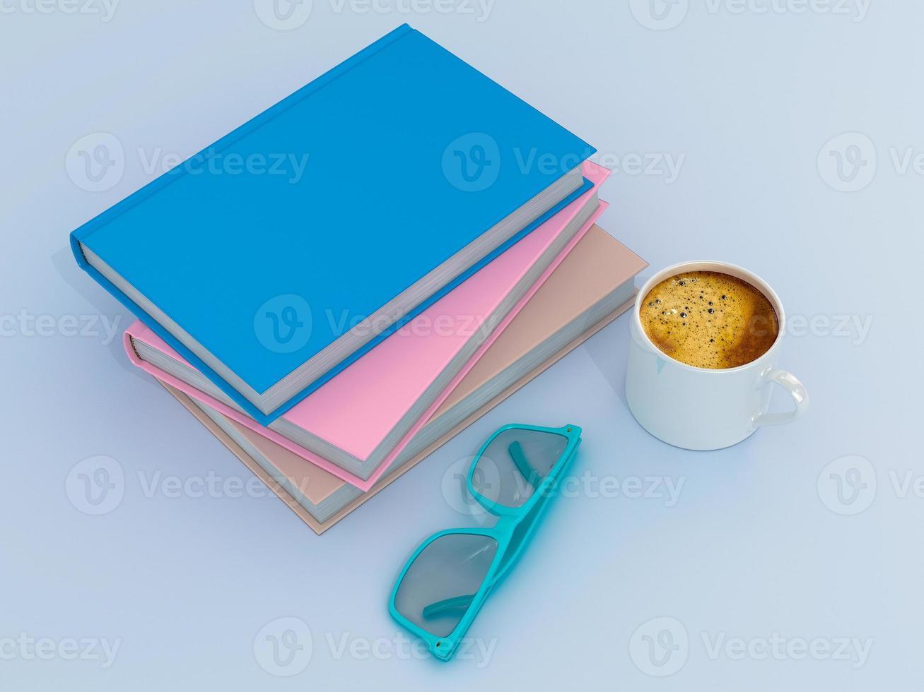 Empty color book mockup template photo