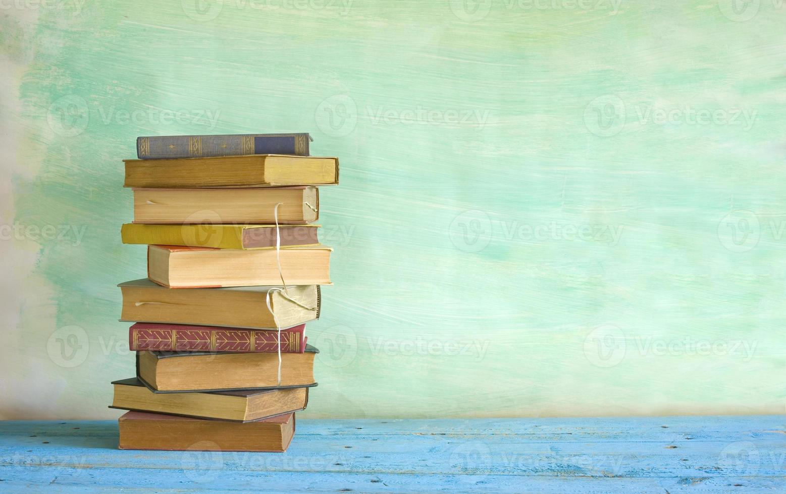 stack of vintage books photo