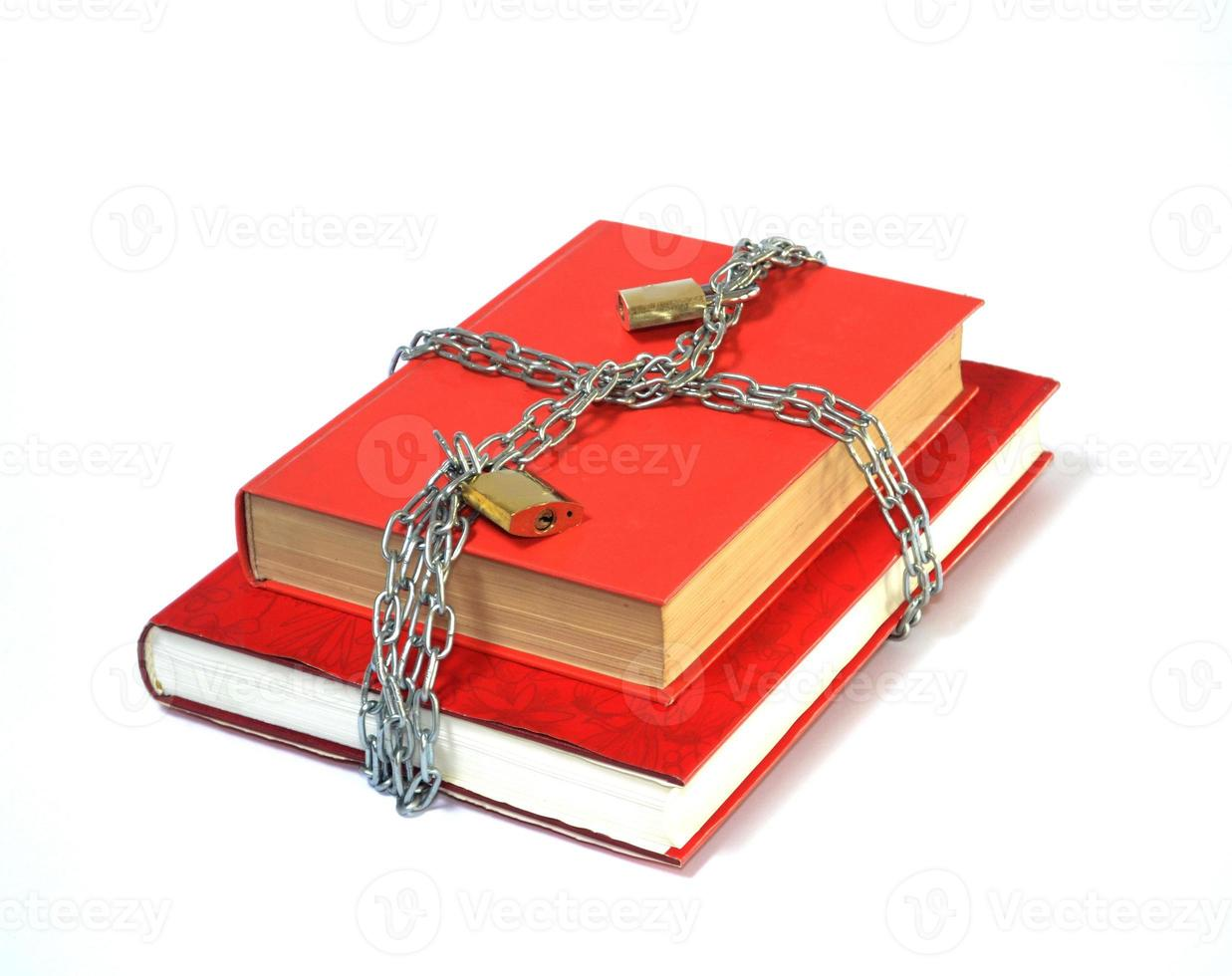 Red Book in chains photo