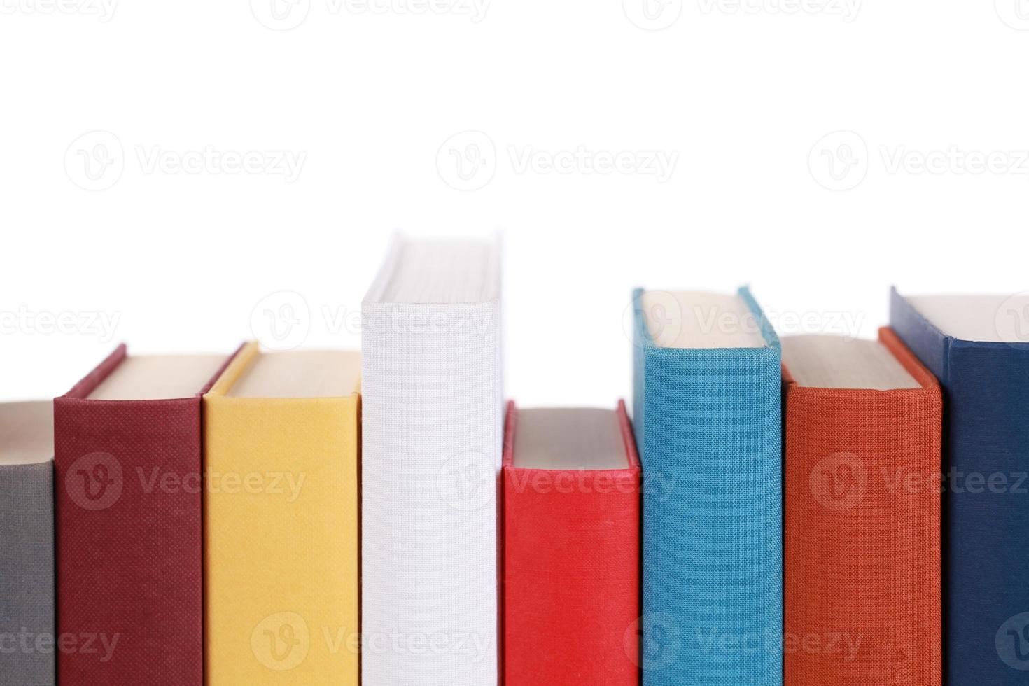 Empty book spines photo