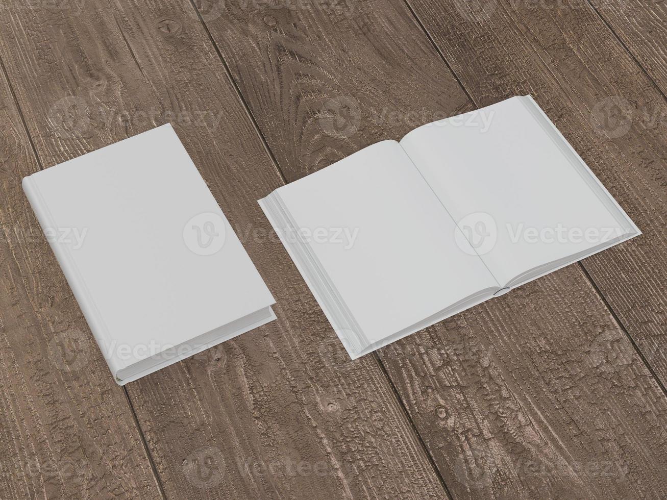 mockup van het boek met een witte kaft foto