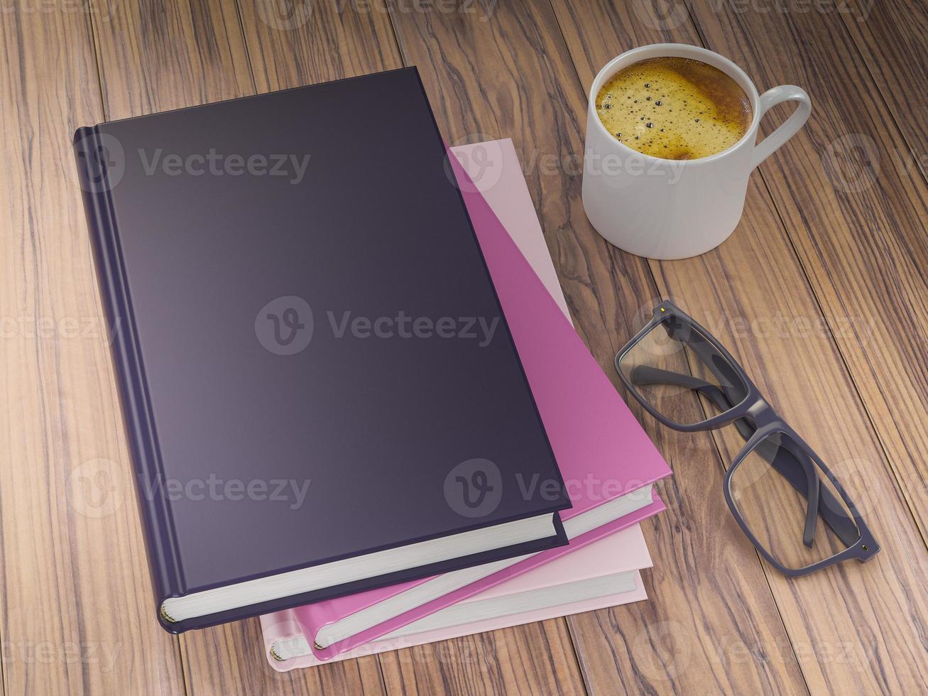 plantilla de maqueta de libros de colores vacíos. alta resolución. foto