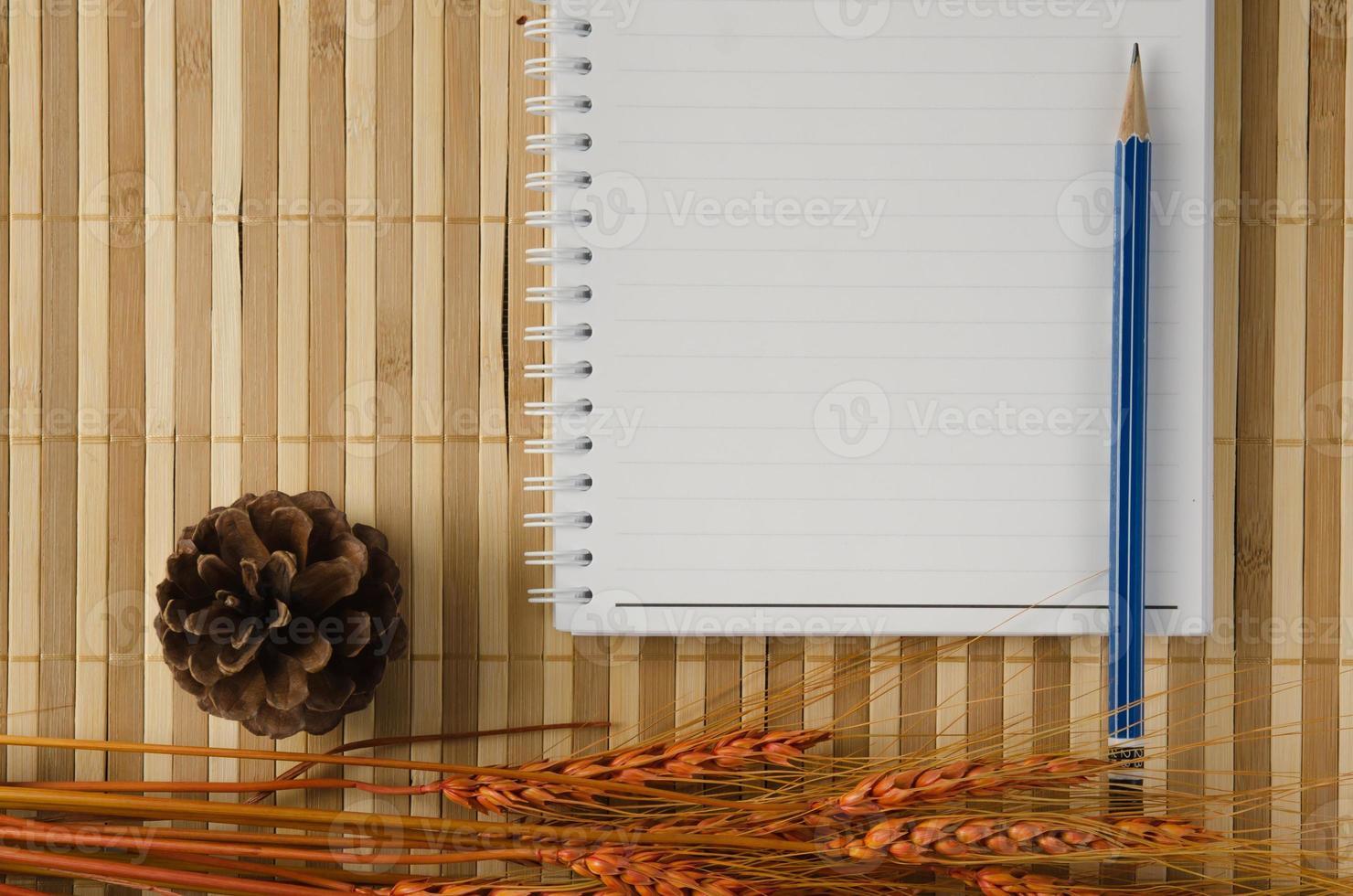 cuaderno de cuaderno espiral en blanco foto