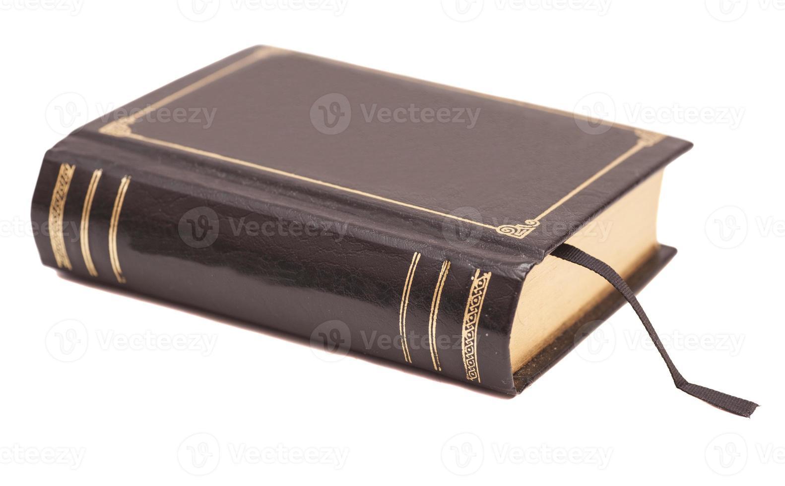 Portada del libro aislado sobre fondo blanco. foto