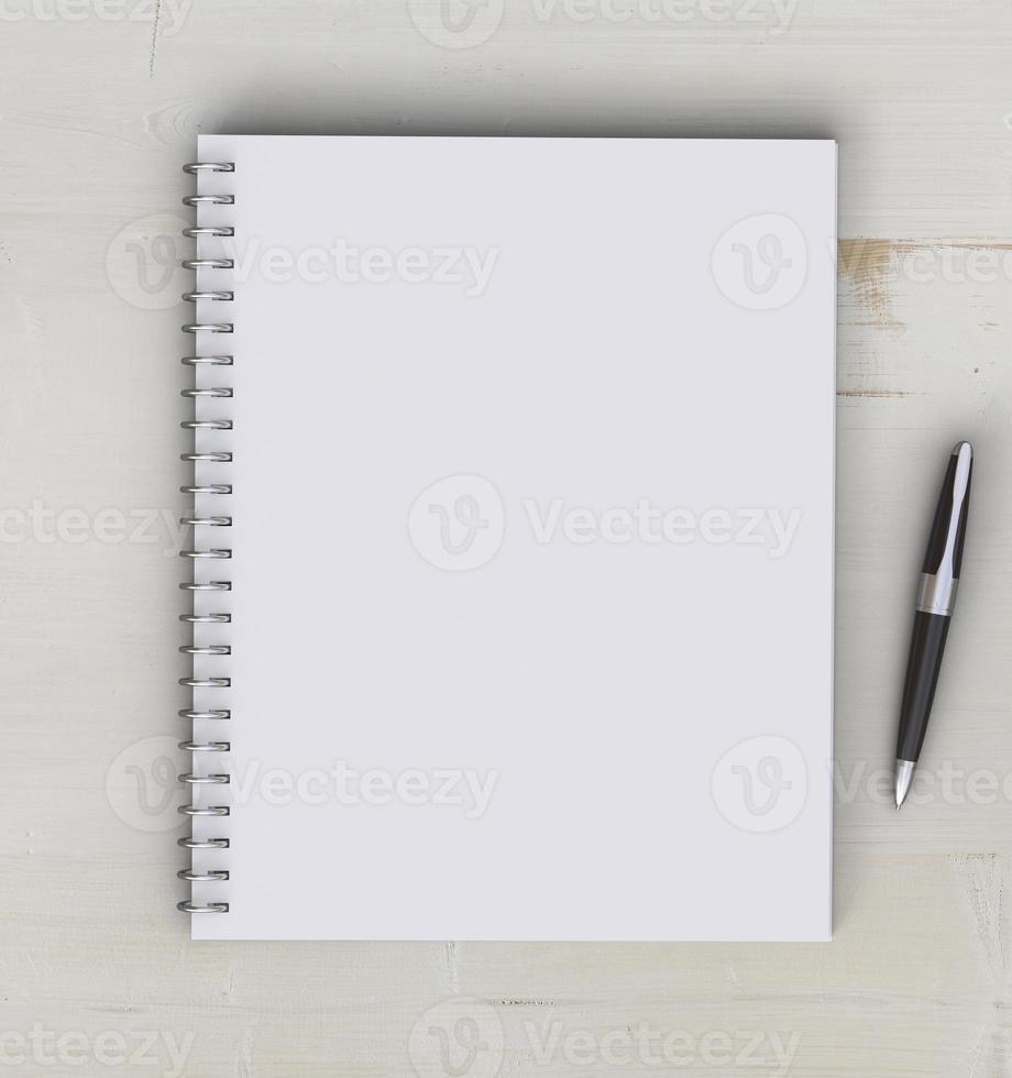 cuaderno en blanco foto