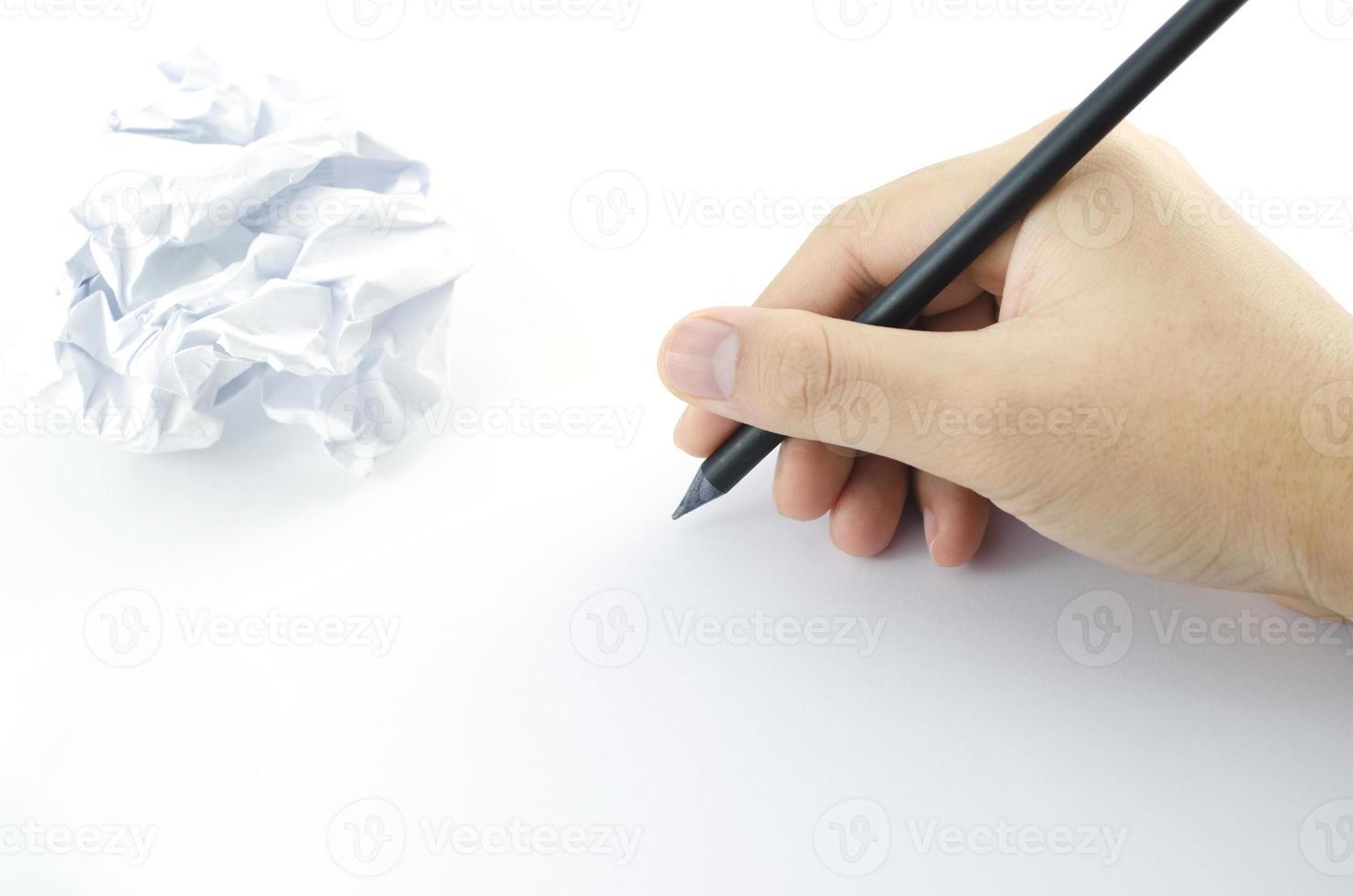 escritura a mano foto