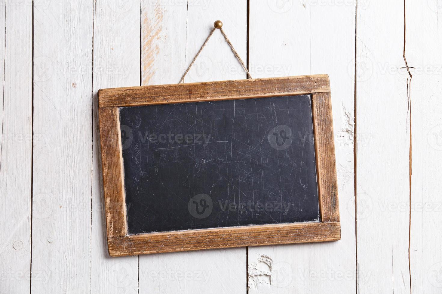 Vintage slate chalk board photo