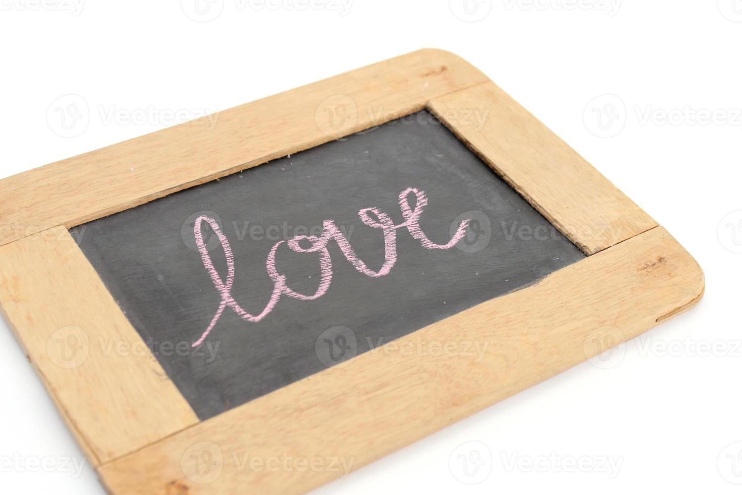 letter love write on chalkboard photo