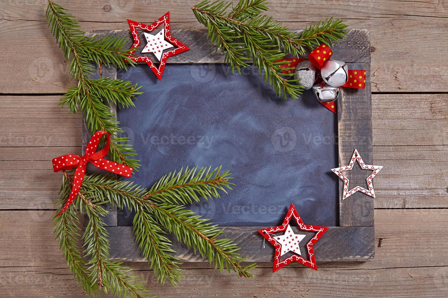 Christmas decoration with chalkboard photo