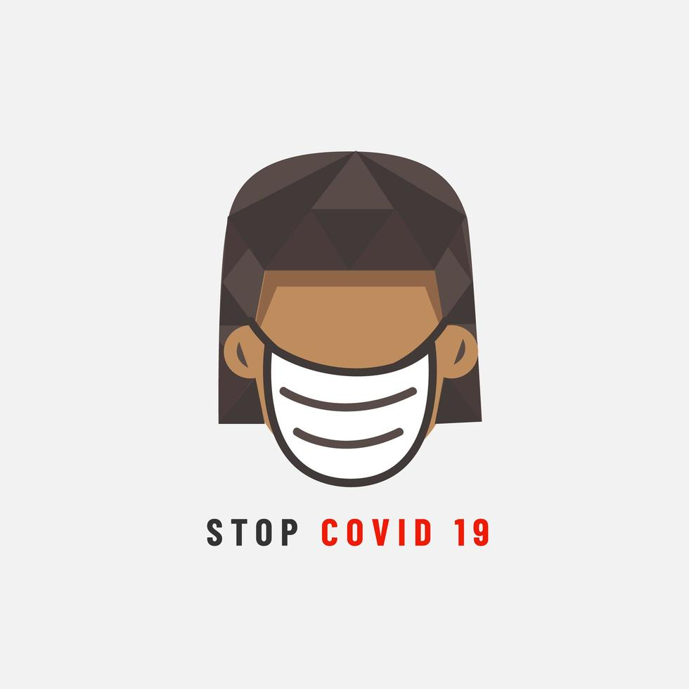 Stop Covid 19 Poster  vector