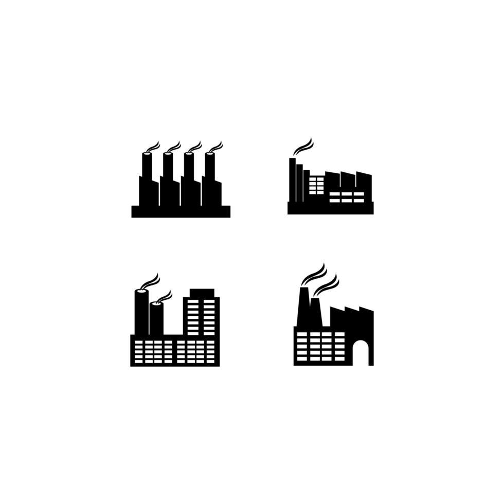 fabriek icon set vector