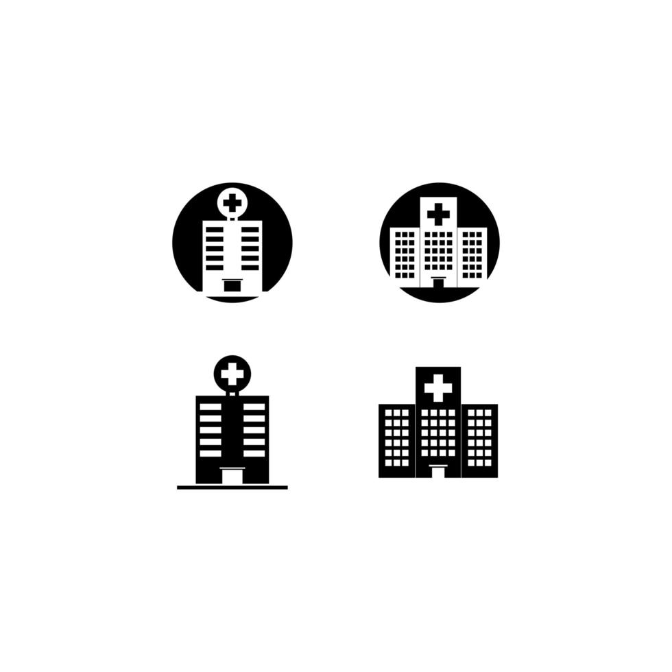 Hospital icon set  vector