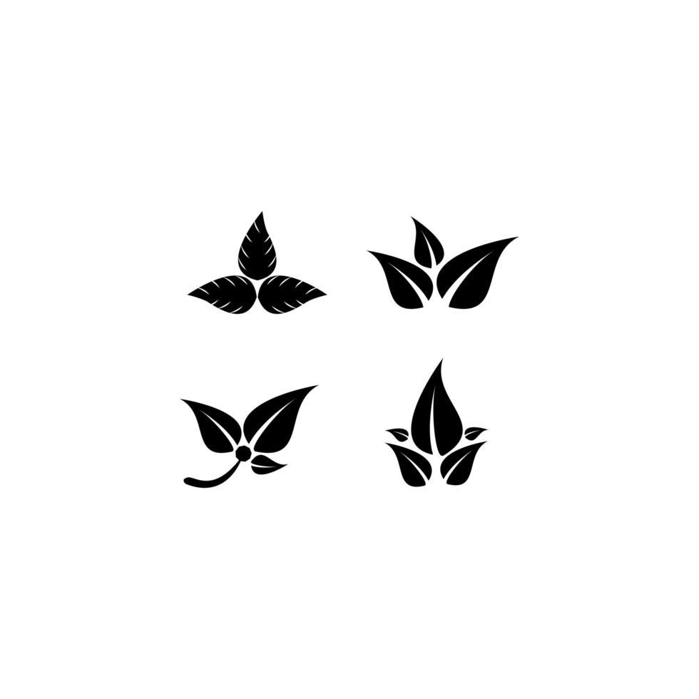 conjunto de iconos de logotipo de hoja vector