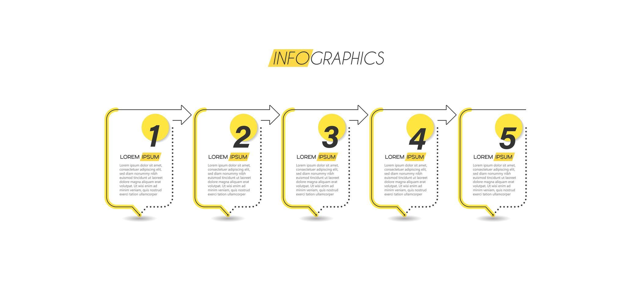 infografica affari minimalista giallo vettore