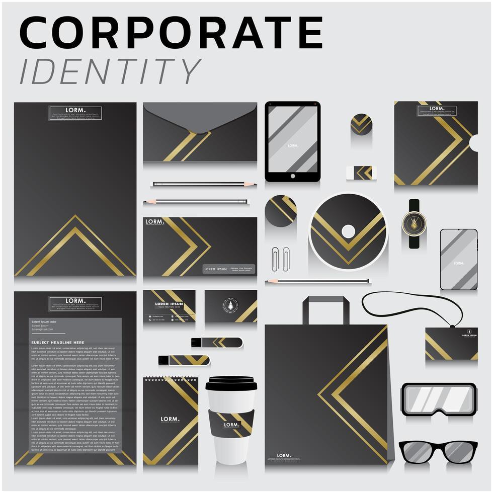 conjunto de identidad corporativa vector