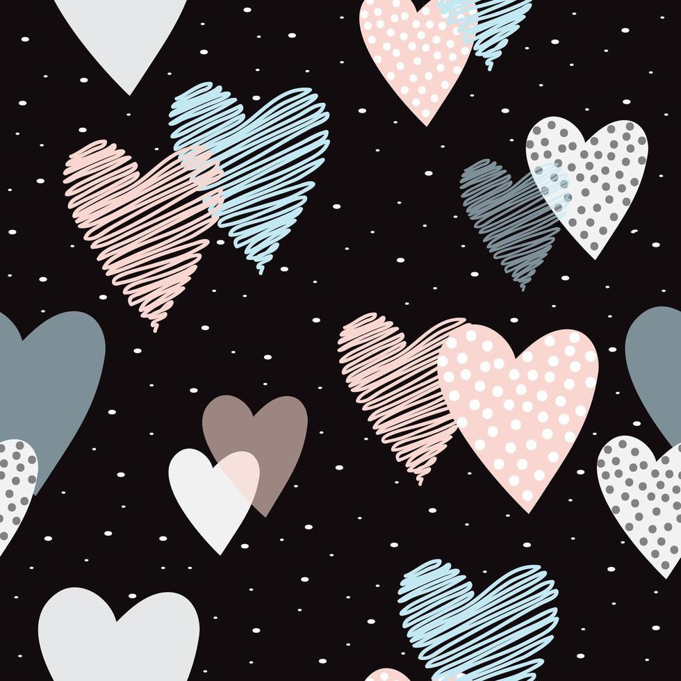 amore carino forma cuore sfondo vettore