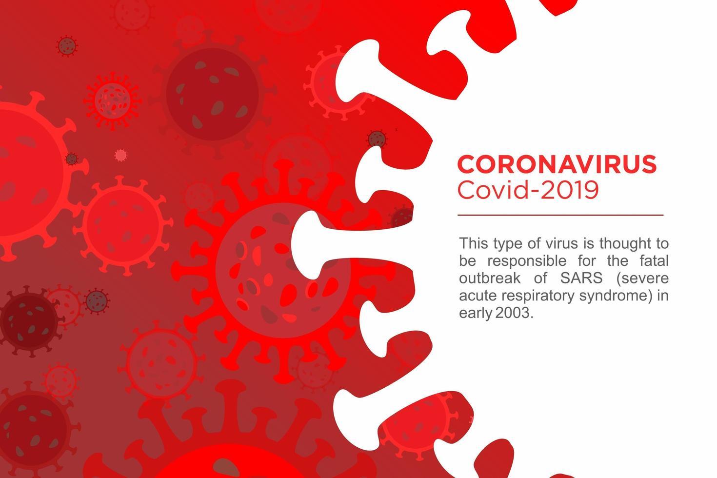 modelo de design vermelho doença coronavírus vetor