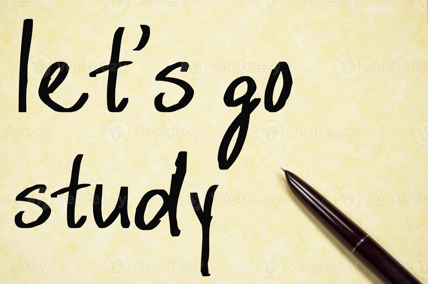 let's go study text write on paper photo