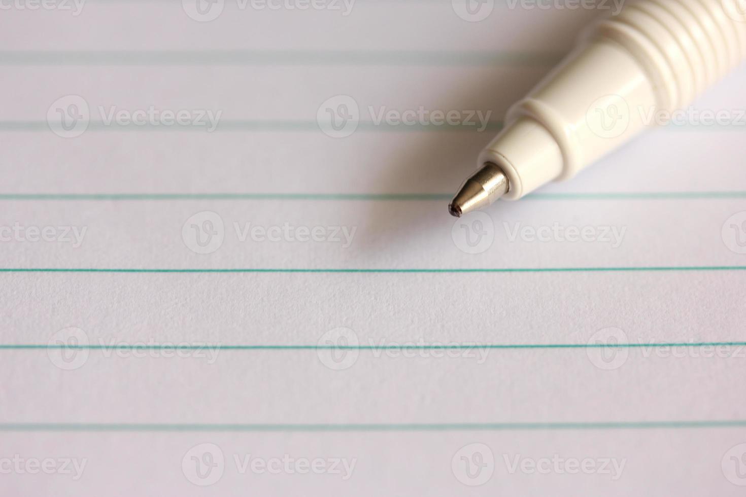 Pen on Notebook photo