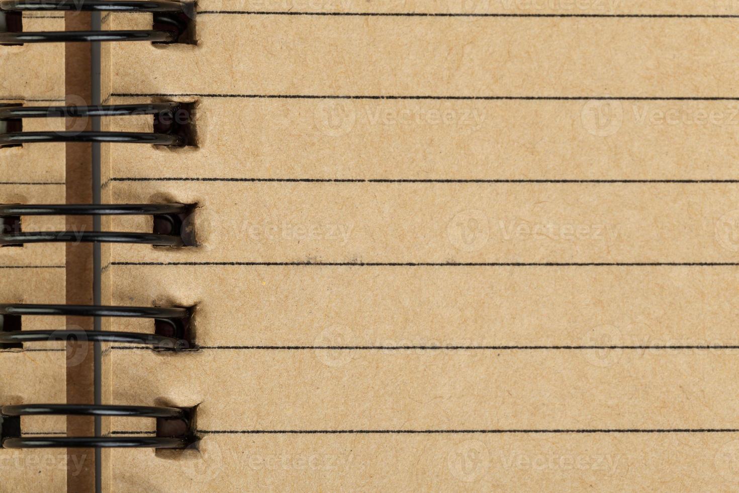 hoja de cuaderno hecha de papel reciclado como fondo foto
