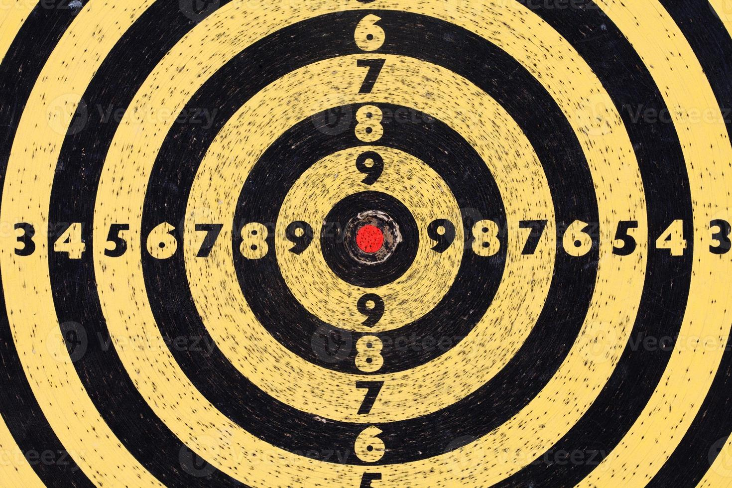 Shooting target. Aim with numbers. Red center. macro view photo