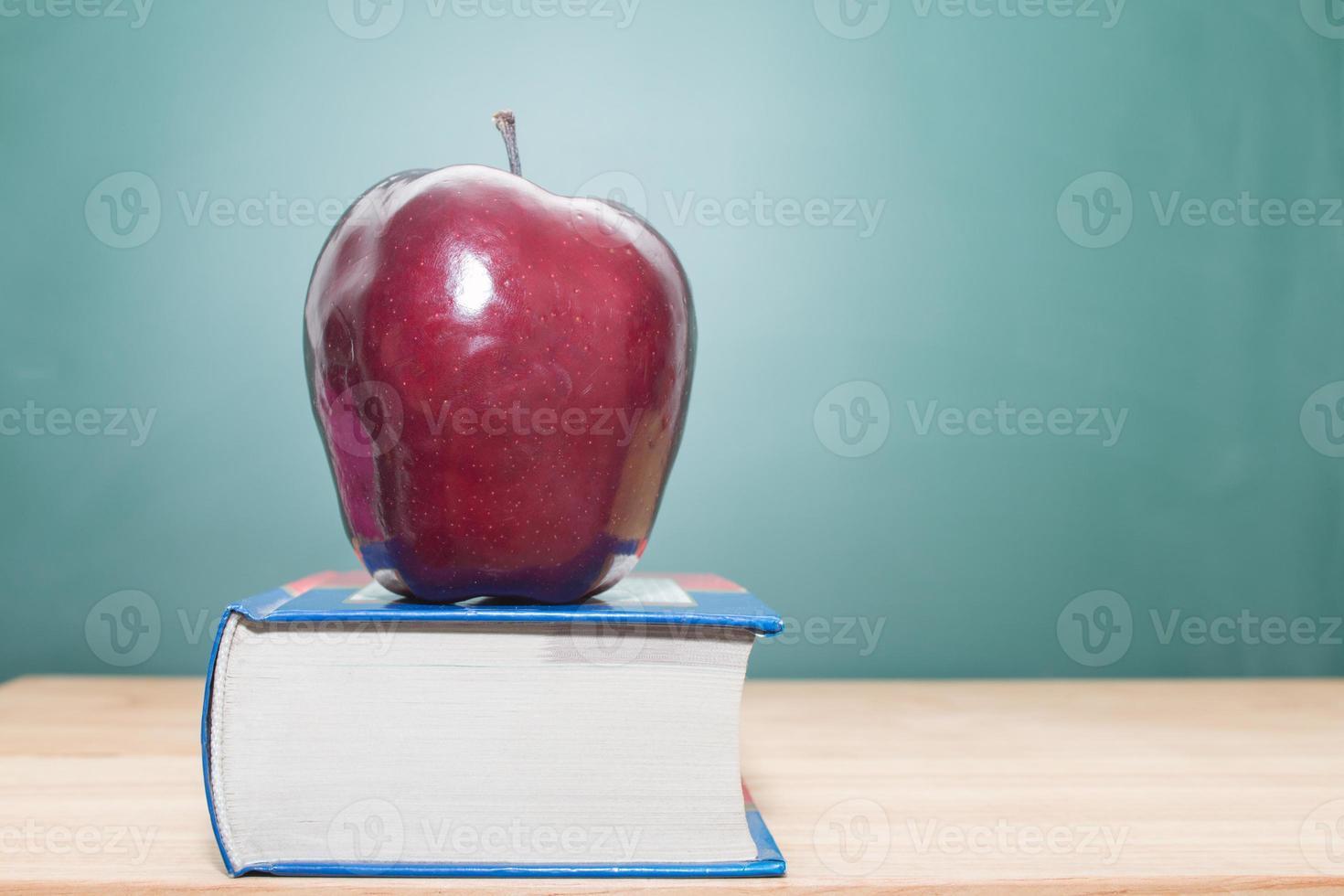 Apple on books photo