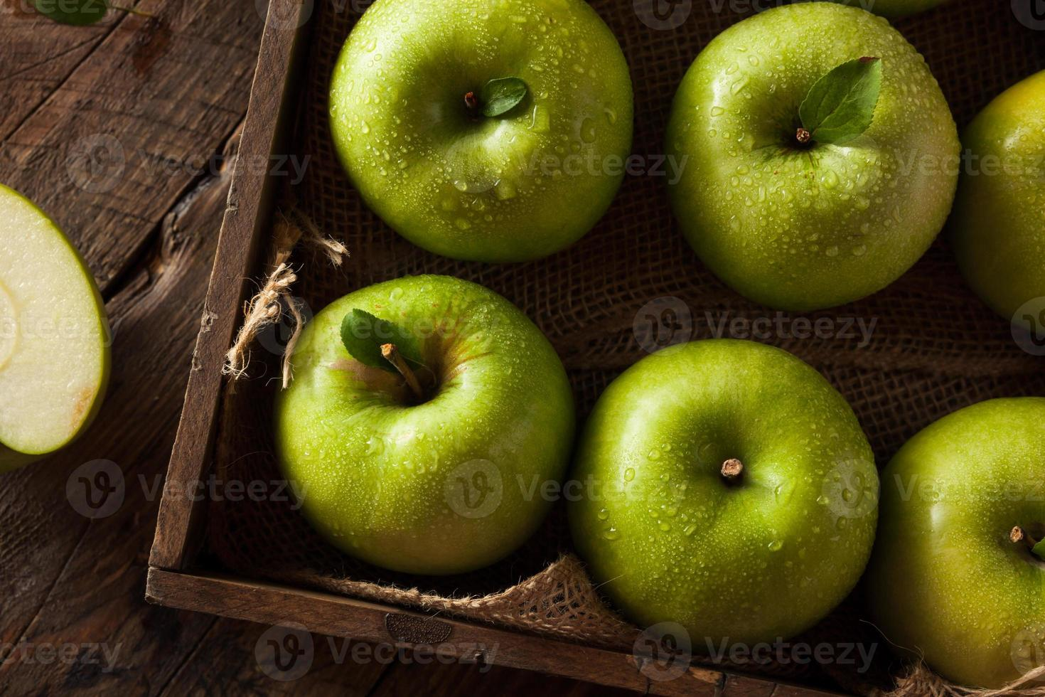 manzana verde granny smith foto
