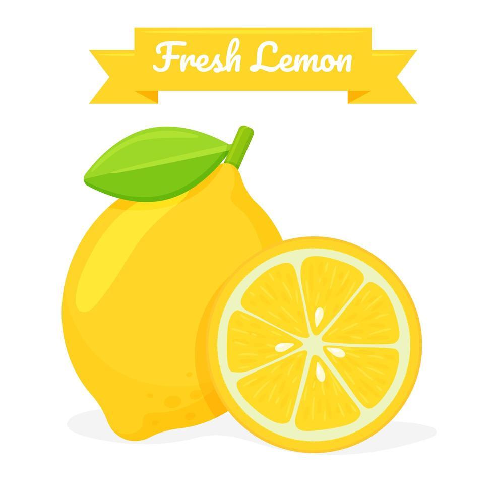 Fresh Lemon Fruit Design vector