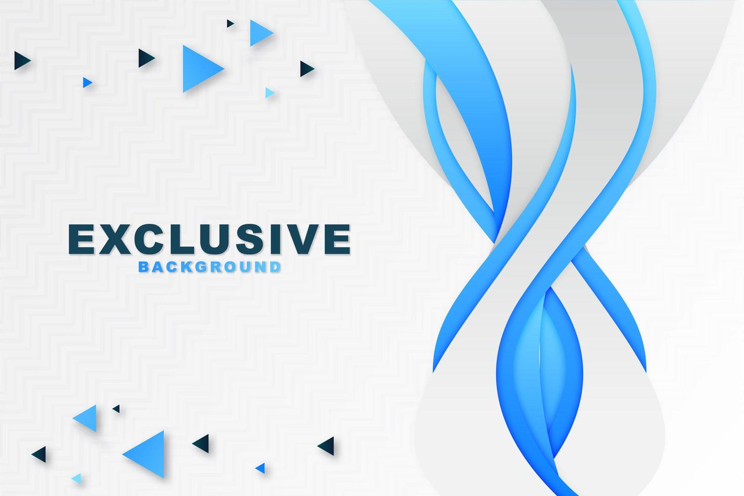 Abstract Blue Vertical Wave Background vector