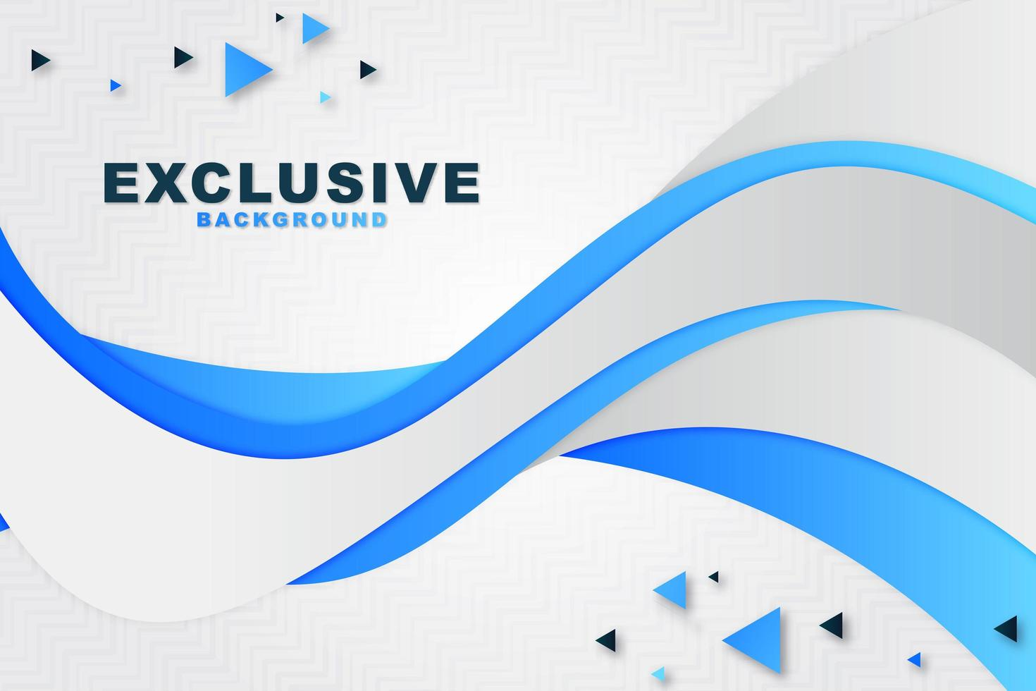 Abstract Horizontal Wave Layered Background vector