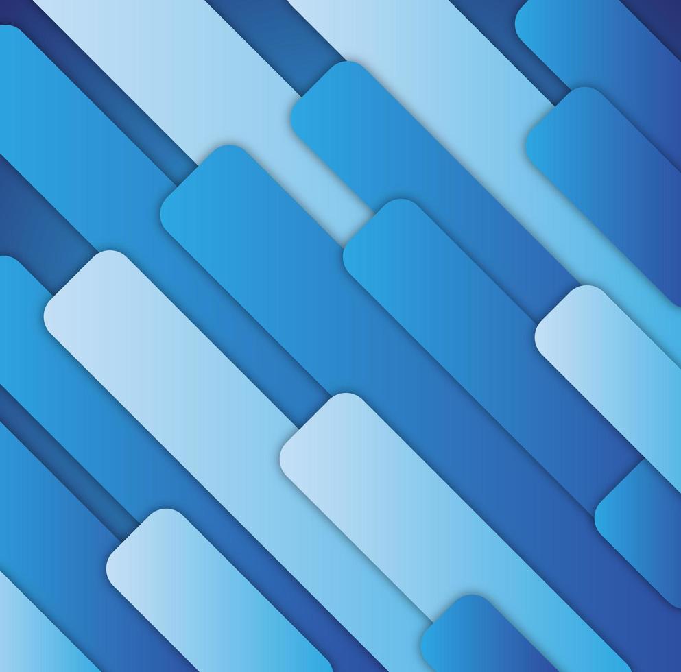 formas de pilares geométricos en capas en tonos azules vector