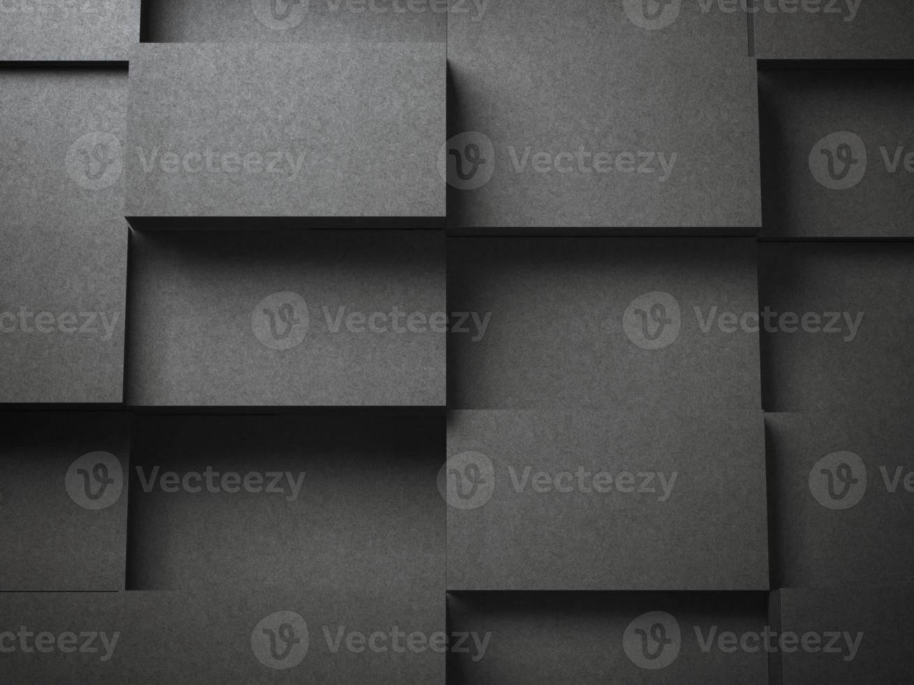 Various stacks of black blank  business cards photo