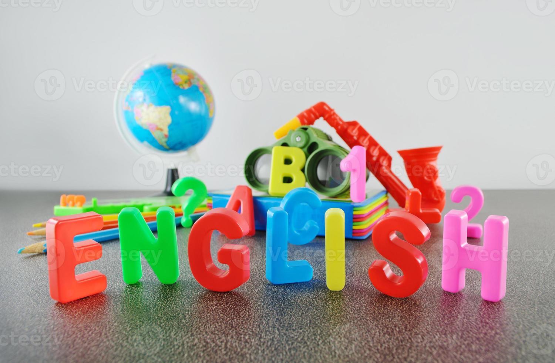 Study English conceptual image photo