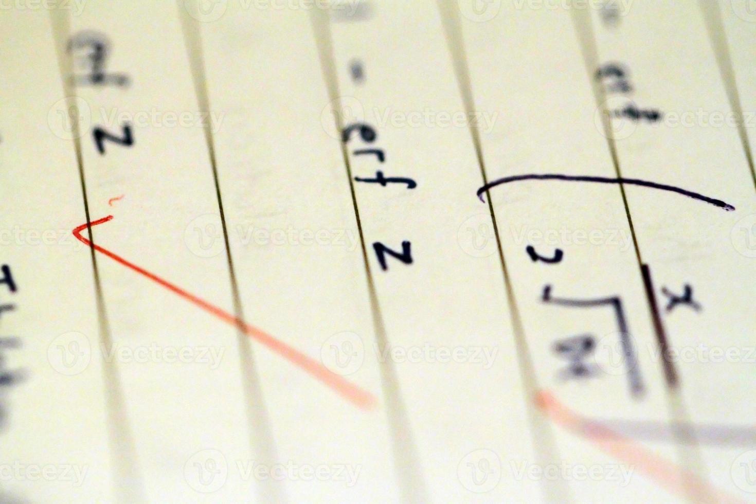 fórmulas y ecuaciones matemáticas foto