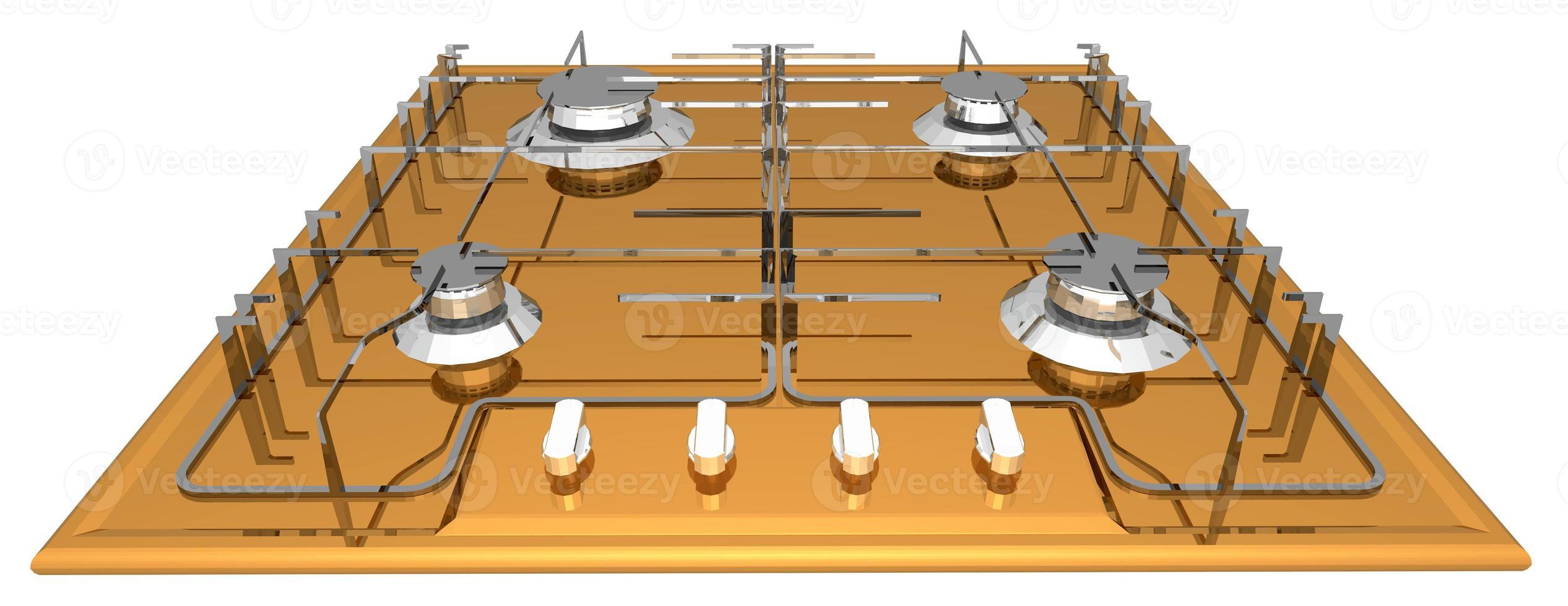 gas stove burners photo