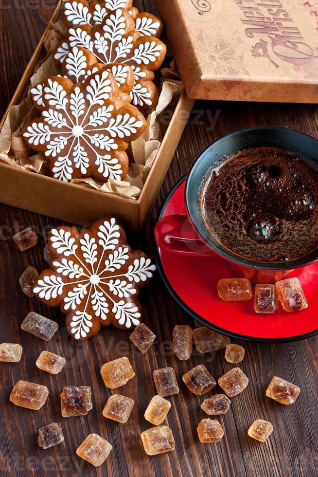composición de navidad con galletas foto
