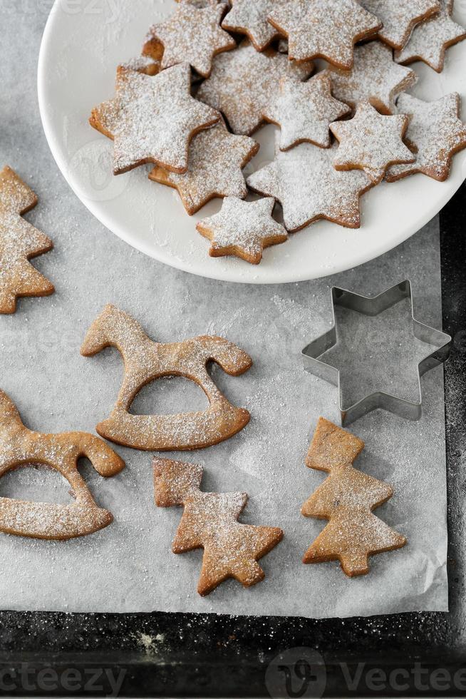 galletas de navidad de pan de jengibre foto