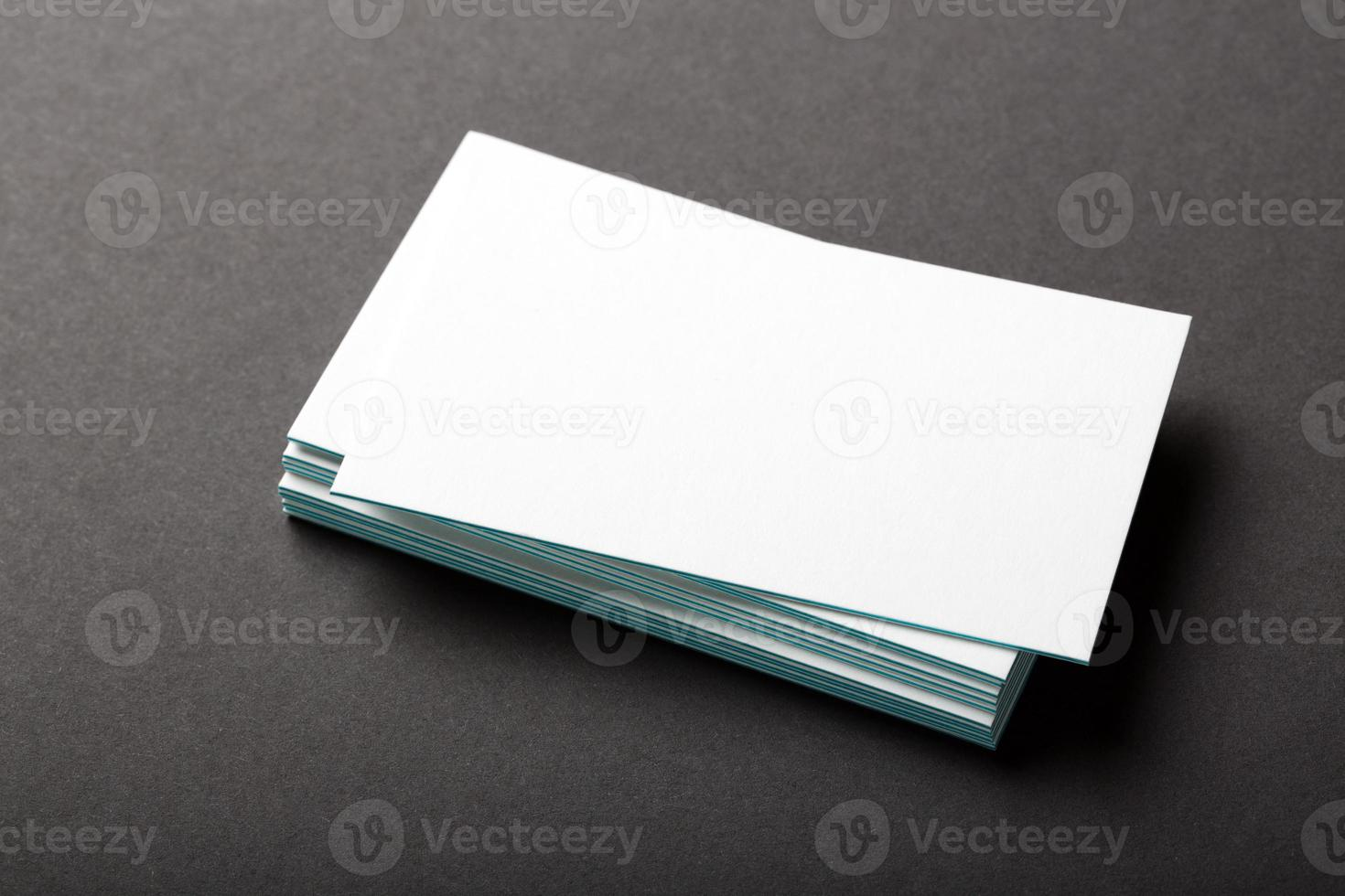 tarjetas de visita en blanco foto