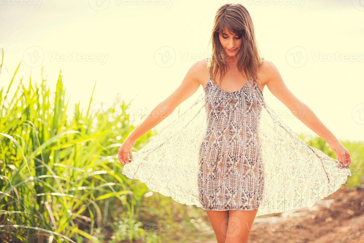 Gorgeous Romantic Girl Outdoors. Summer Lifestyle photo
