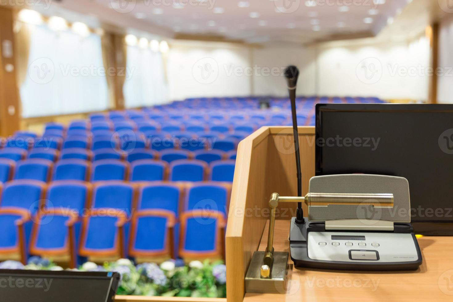 Rostrum in conference hall photo